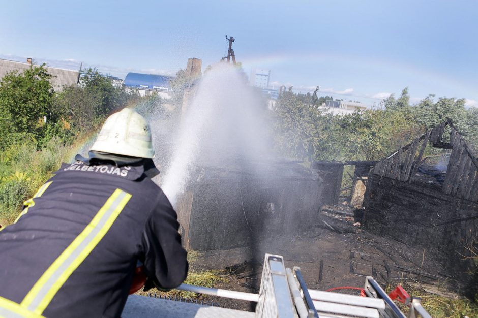 Klaipėdos ekonominėje zonoje degė apleistas kaimas