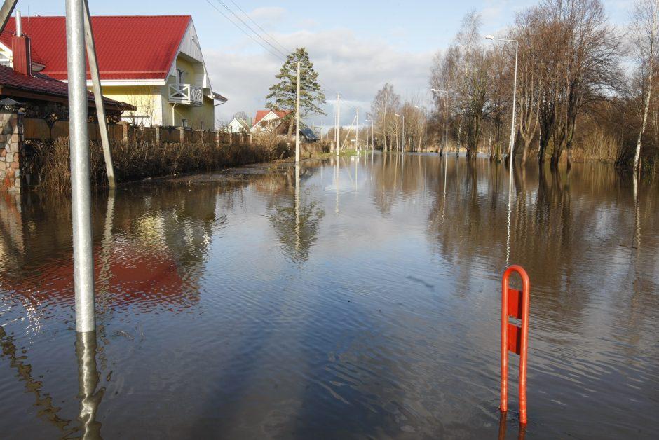 Purmaliuose vanduo tuoj sieks namų stogus