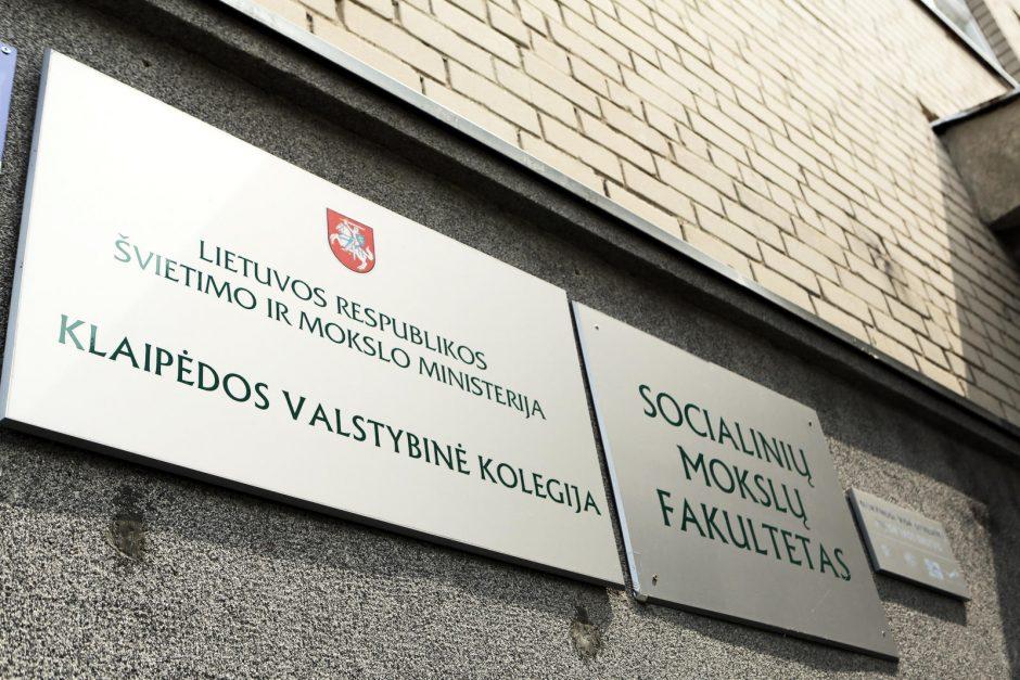 Klaipėdos valstybinėje kolegijoje – neramumai
