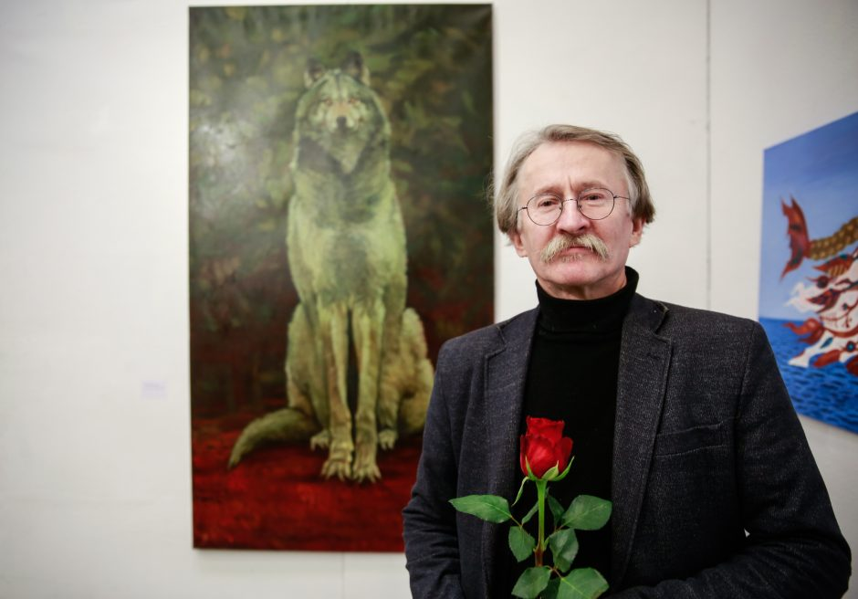 Metų kūrinio laurai – P. Griušio vilko portretui
