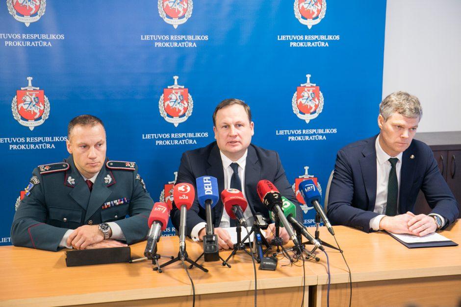 Spaudos konferencija dėl A. Paleckio suėmimo