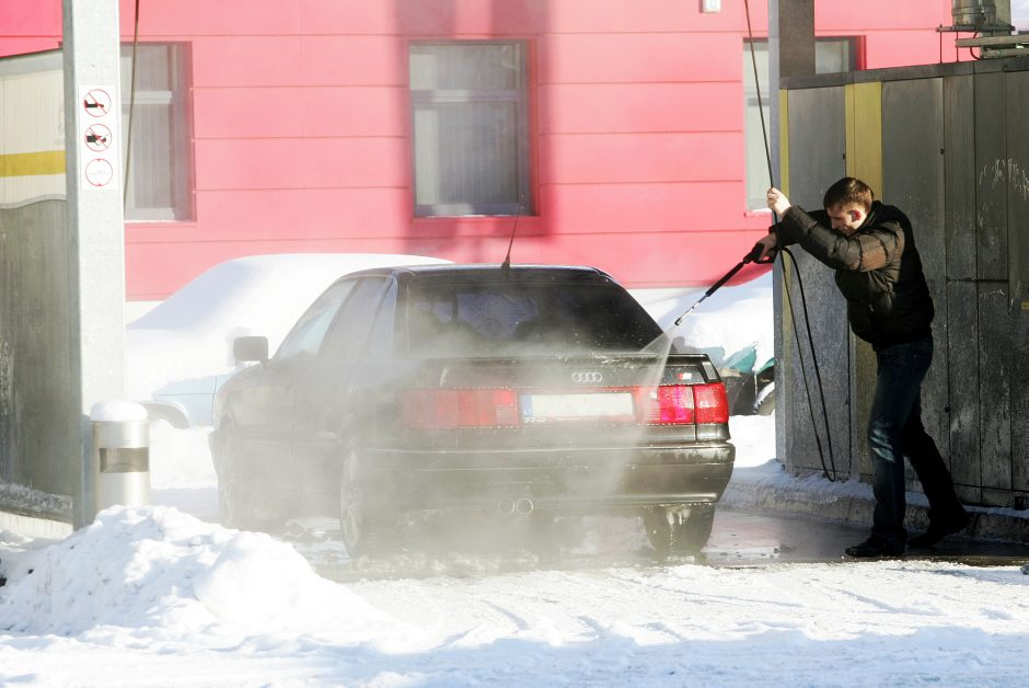 Kaune norima riboti automobilių plovyklų atstumą iki namų ir įstaigų