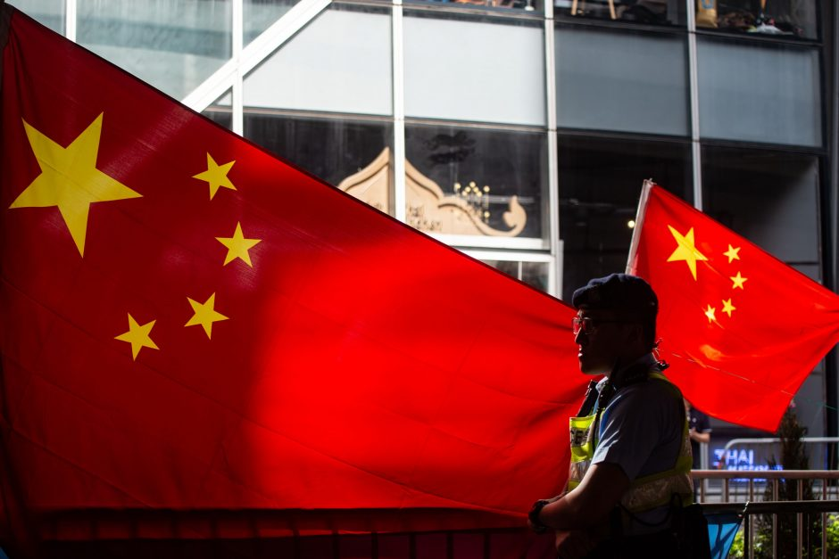 Kinija pareiškė esanti šokiruota dėl Lietuvos žvalgybos kaltinimų