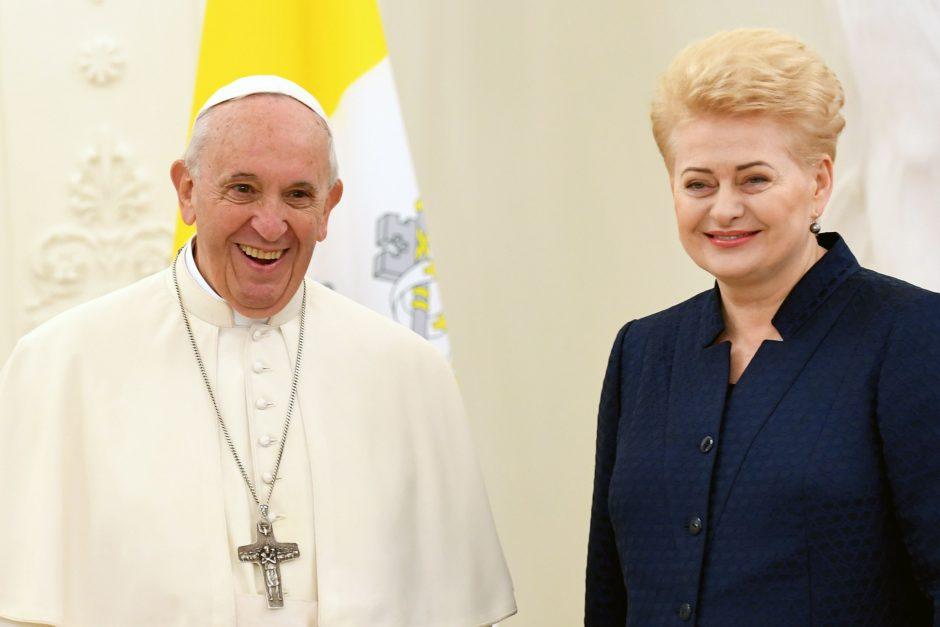 D. Grybauskaitė giria popiežiaus drąsą reformuoti Bažnyčią