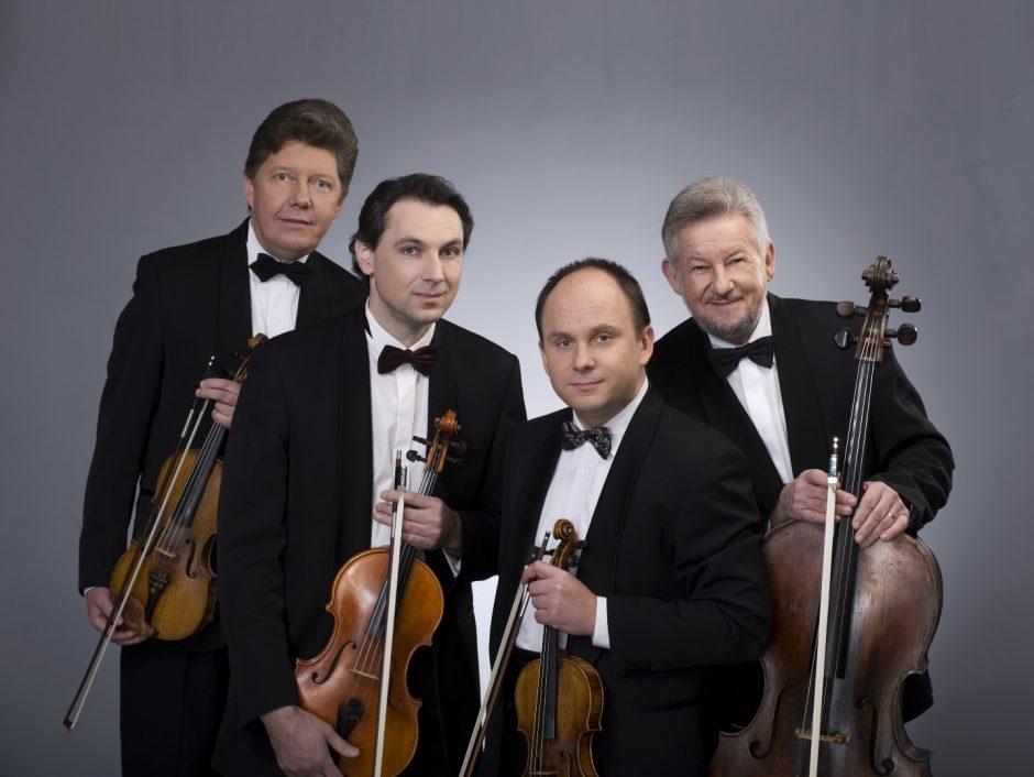 Čiurlionio kvartetas minės 45 metų kūrybinės veiklos jubiliejų