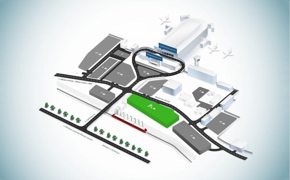 Rasti vietą automobiliui prie Vilniaus oro uosto bus daug lengviau