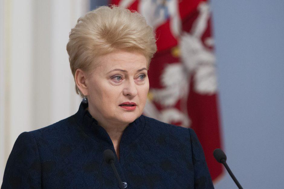 D. Grybauskaitė: alkoholio prieinamumą reikia mažinti