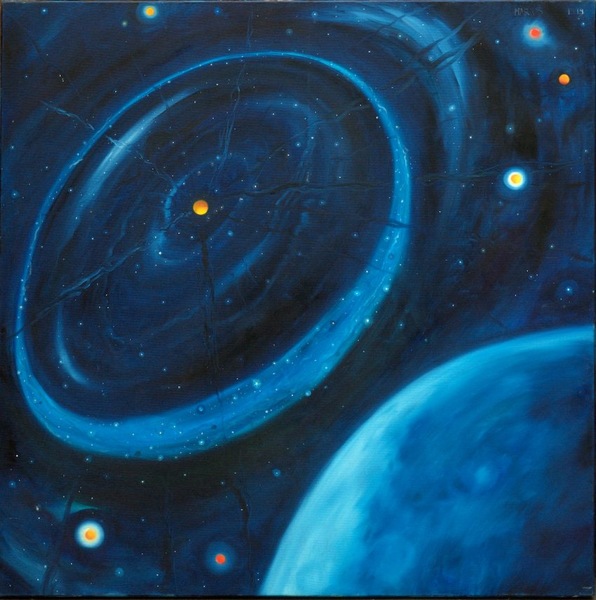 Sostinės planetariume – dailininko M. Abramavičiaus mūza