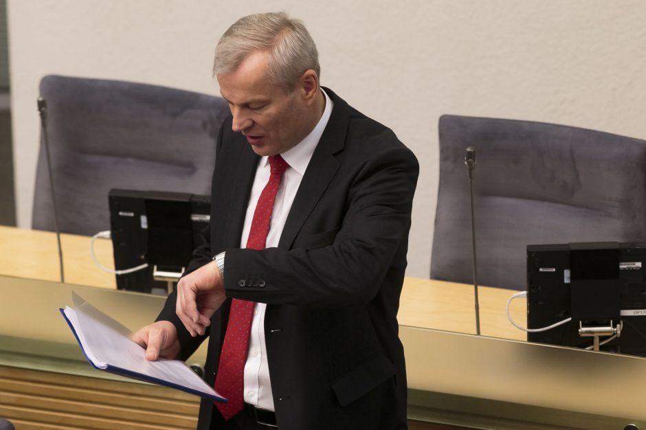 Seimo teisininkas: slapto balsavimo valios paviešinimas yra pažeidimas