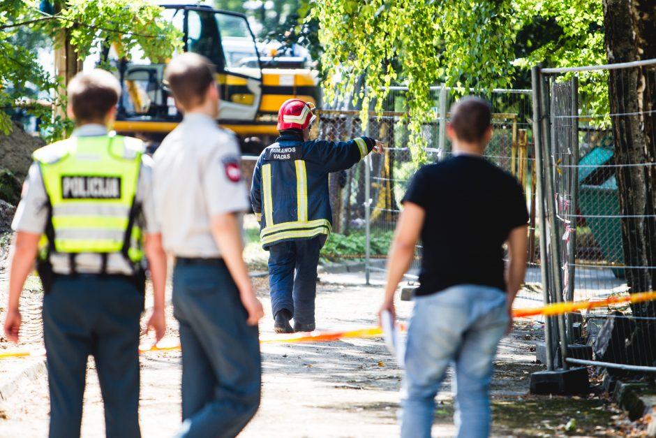 Prie Kauno klinikinės ligoninės darbininkai iškasė sprogmenį