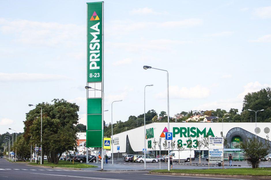 """Prie """"Prismos"""" pradėtas ardyti nelegaliai pastatytas reklamos bokštas"""