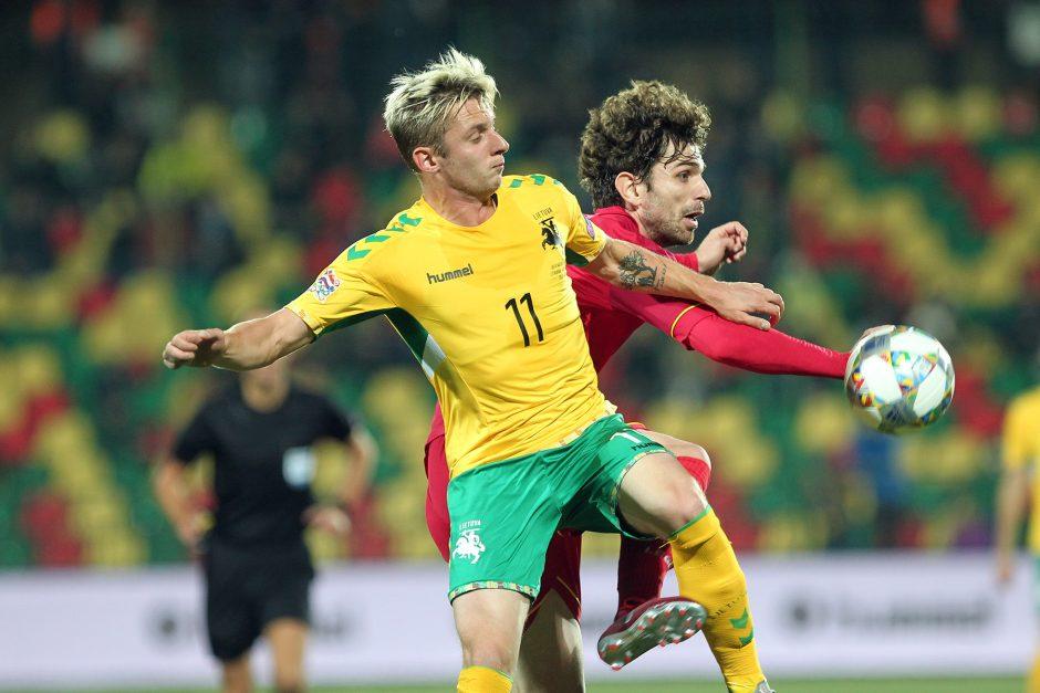Lietuvos futbolininkai beviltiškai pralaimėjo Juodkalnijos rinktinei
