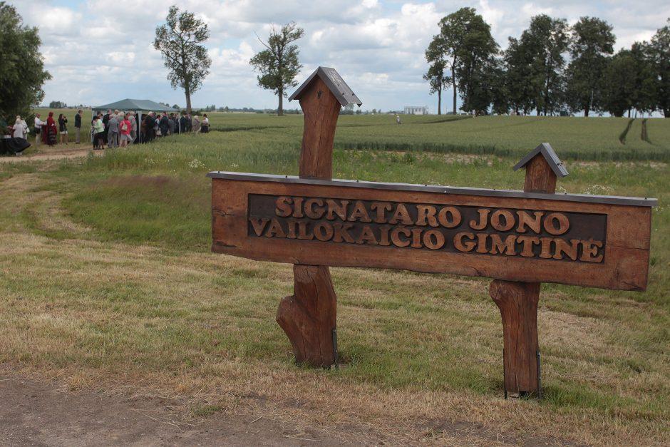 Atidengtas paminklas Jonui Vailokaičiui