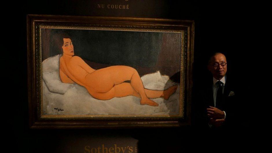 A. Modiglianio aktas aukcione parduotas už daugiau nei 150 mln. dolerių