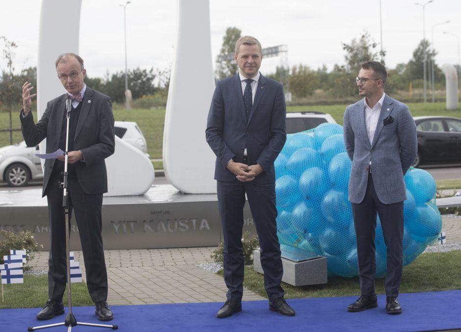 Vilniuje atidaryta Suomijos aikštė