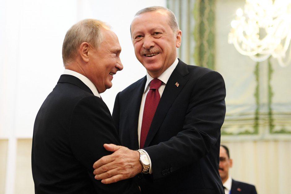R. T. Erdoganas ir V. Putinas susitiks aptarti padėtį Idlibe