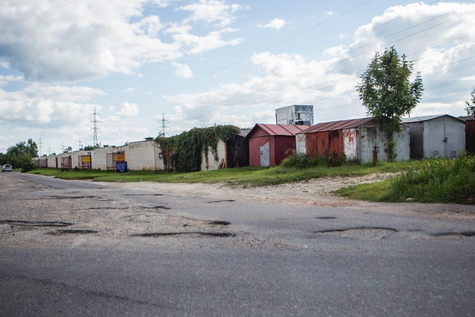 Kaunietė neteko amo: pavogtas metalinis garažas