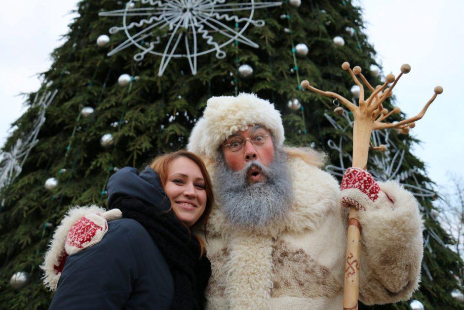 Kalėdų eglės įžiebimas Šiauliuose