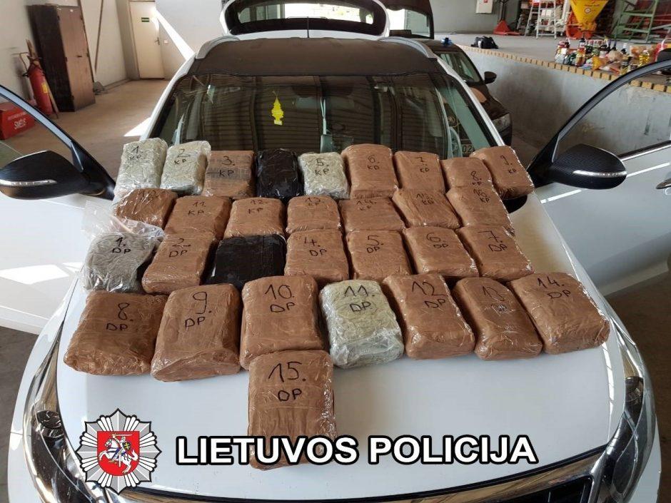 Muitininkų laimikis –300 tūkst. eurų vertės narkotikai