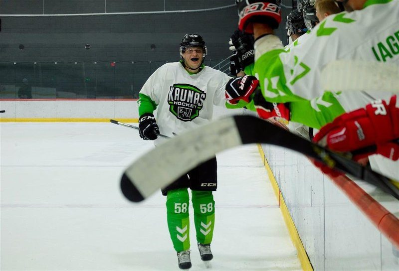 """""""Kaunas Hockey"""" pasiruošimą naujajam sezonui pradėjo pergale Latvijoje"""