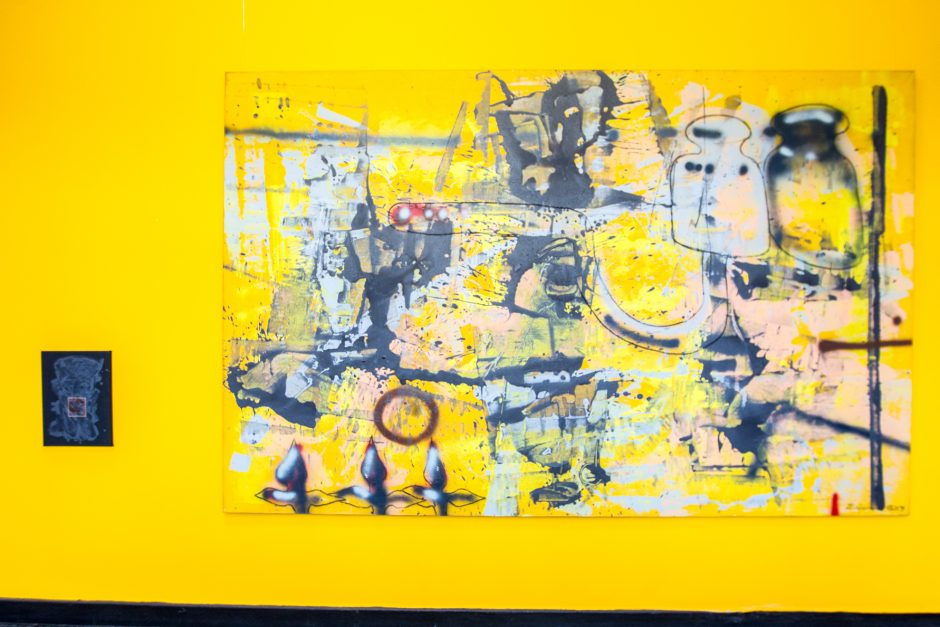 Menininko E. Markūno parodoje – užkoduotos miesto spalvos