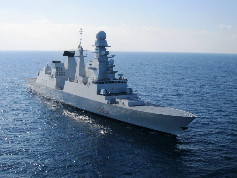 Klaipėdoje viešės Italijos karinių jūrų  pajėgų laivas