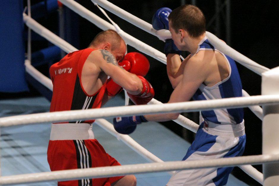 A. Šociko turnyre kovos dešimties valstybių boksininkai