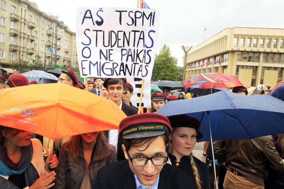 Vilniaus universiteto studentai pasitiko mokslo metus