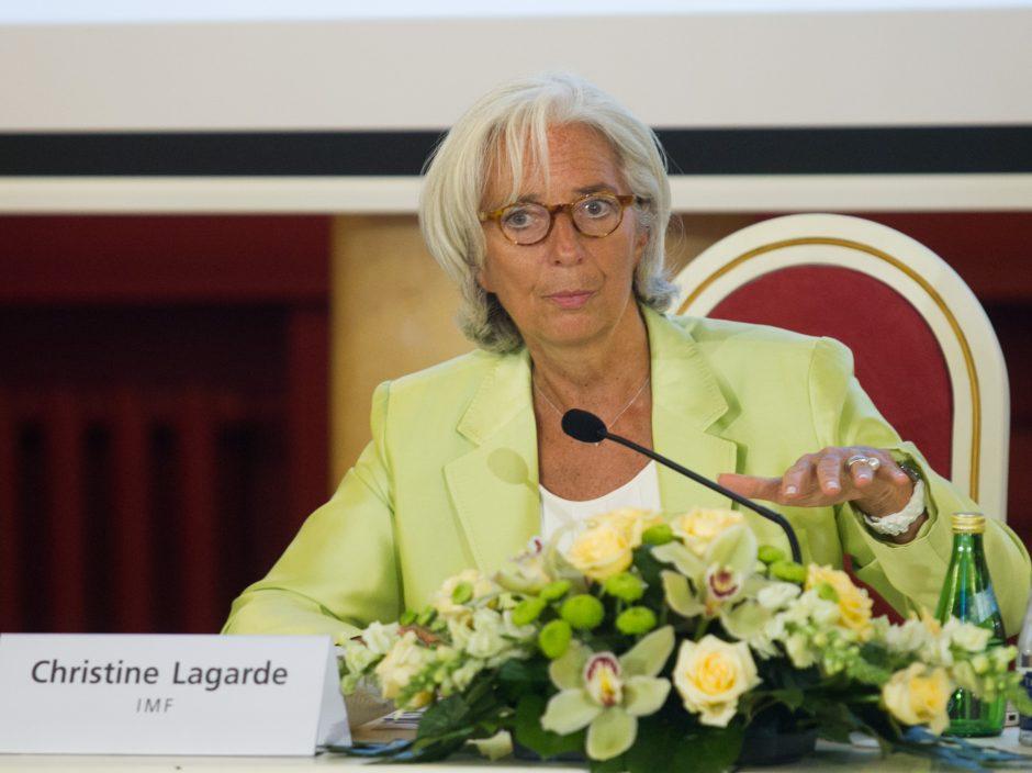 TVF vadovė remia Lietuvos siekį įsivesti eurą, ragina tęsti reformas ir siekti investicijų
