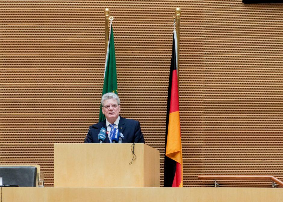 Lietuvoje su valstybiniu vizitu lankosi Vokietijos prezidentas