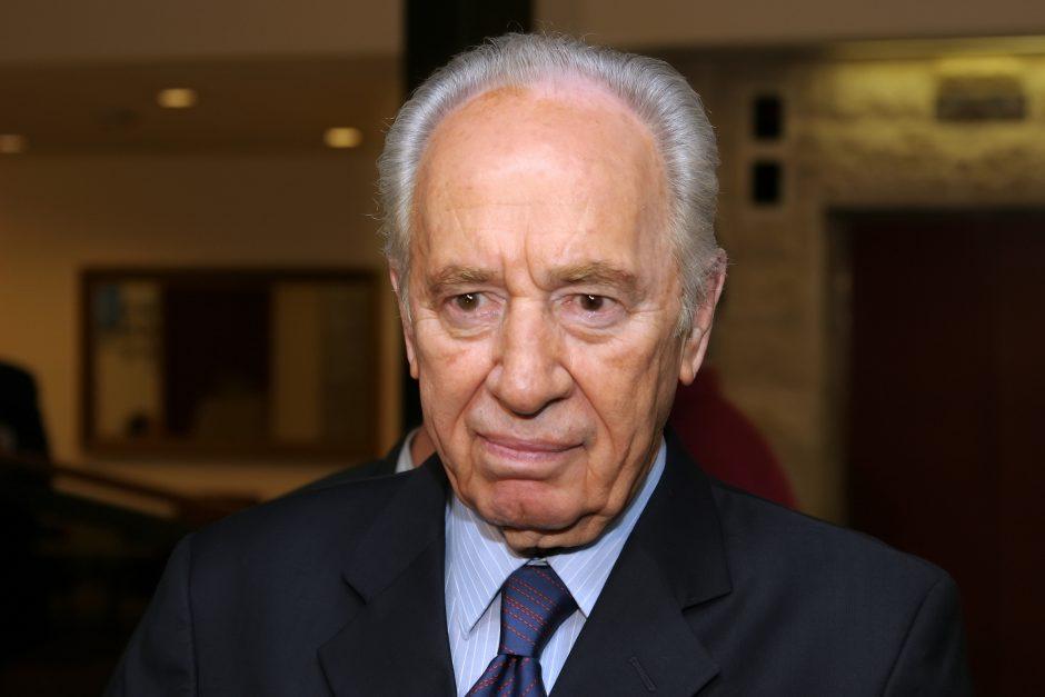 Izraelio prezidentui Šimonui Peresui bus suteiktas Vilniaus garbės piliečio vardas