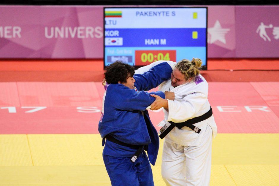 Dziudo imtynininkė S. Pakenytė iškovojo sidabro medalį
