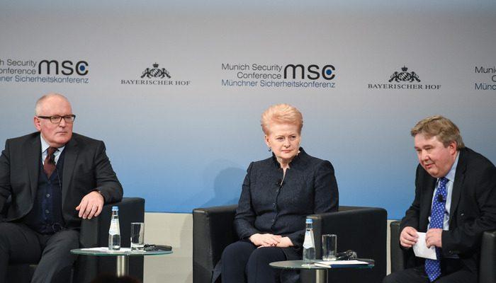D. Grybauskaitė Miunchene įspėjo dėl augančio ekstremizmo ES politikoje