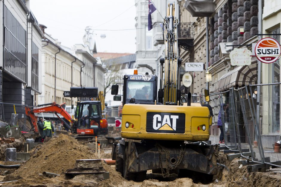Vilniaus gatvės rekonstrukcijai mestos savivaldybės įmonės pajėgos