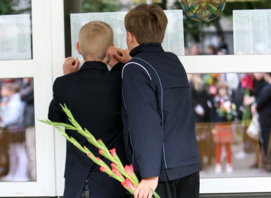 Vienoje gimnazijoje dėl vietos reikia pakovoti, į kitą priima išskėstomis rankomis