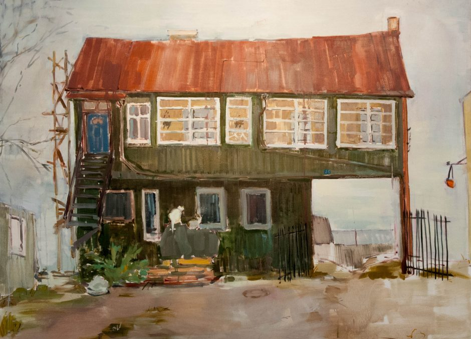Jauną menininkę įkvepia kurti ir namas Vilijampolėje