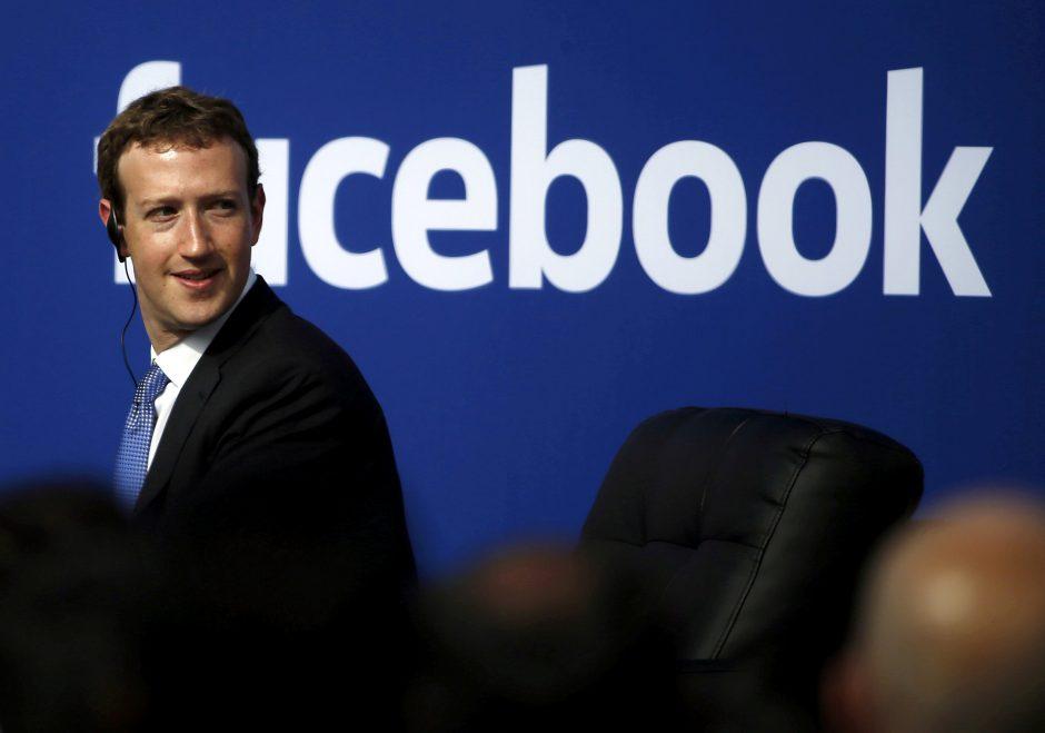 """M. Zuckerbergas: """"Facebook"""" turi aiškių Rusijos kišimosi į JAV rinkimus įrodymų"""