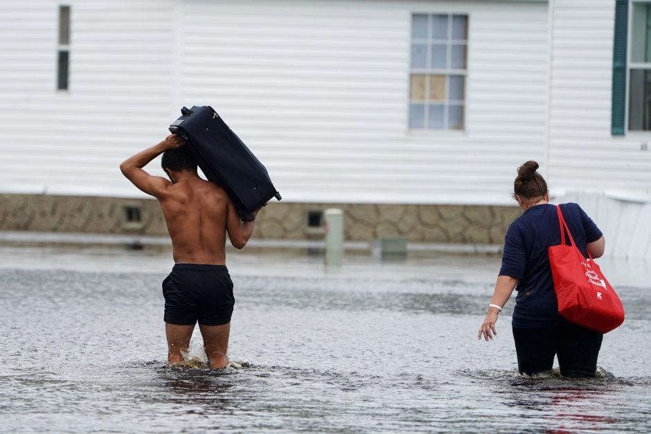 Katastrofiški potvyniai JAV pietryčiuose