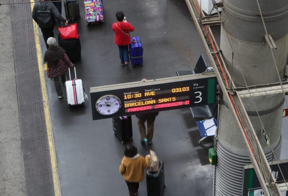 Granatos pavidalo diržo sagtis sukėlė aliarmą Ispanijos geležinkelio stotyse