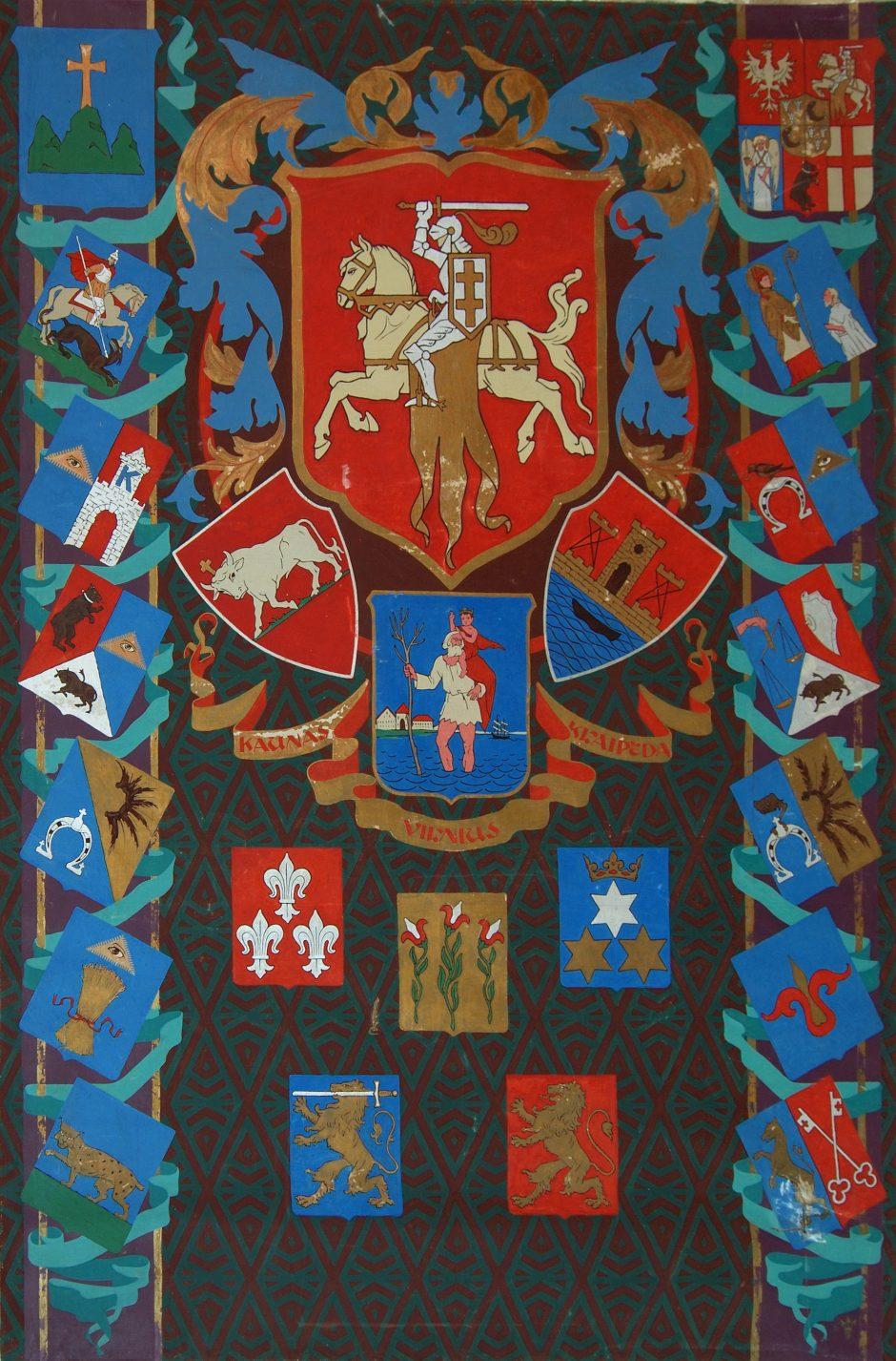 Kauno herbas: Didžiojo karo ir Pirmosios Lietuvos Respublikos metai