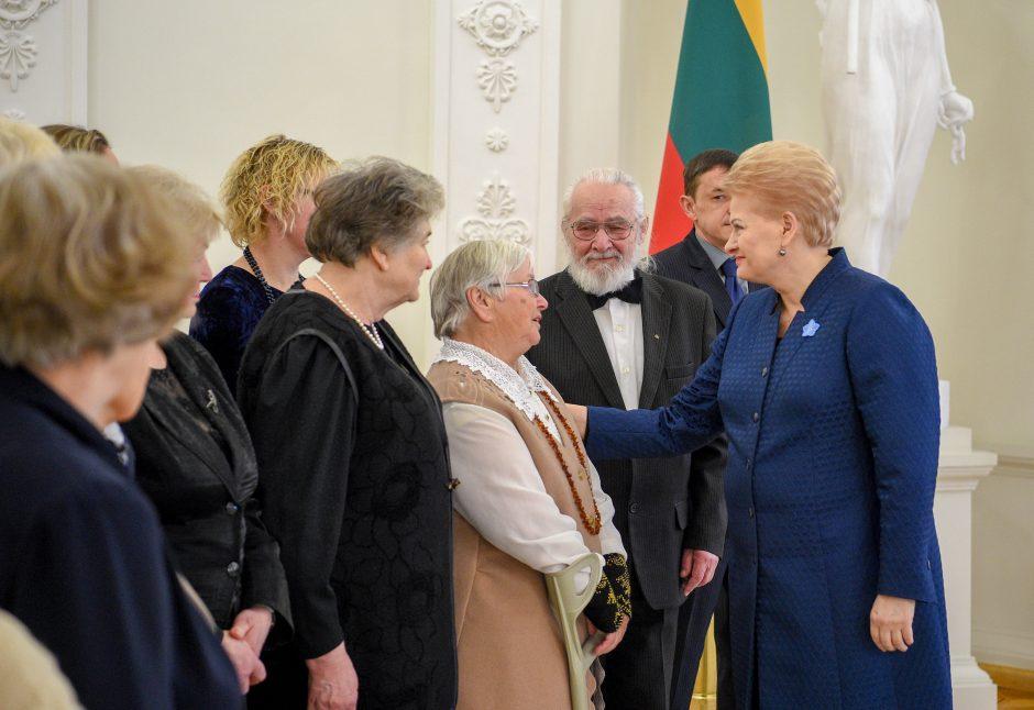 Prezidentė susitiko su laisvės gynėjų artimaisiais
