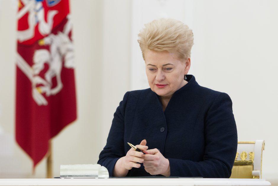 Prezidentė pritarė būsimajai pensijų reformai