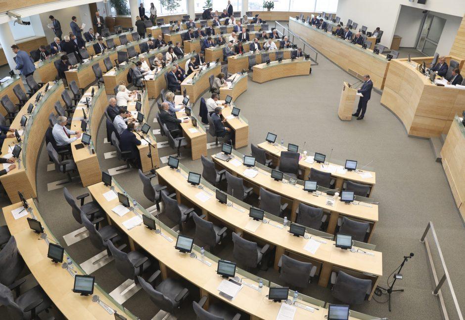 Diskusija dėl mokesčių ir pensijų reformos: dalis opozicijos paliko salę