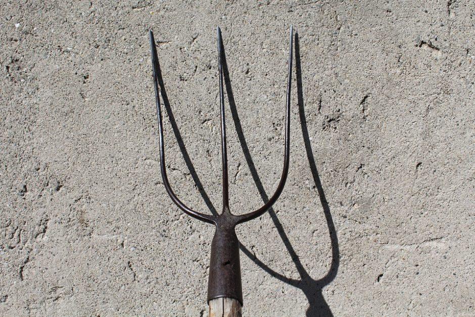 Kalvarijoje vyras pareigūnams grasino su šakėmis