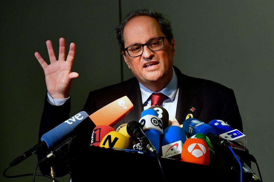 Naujasis Katalonijos vadovas nori susitikti su Ispanijos premjeru