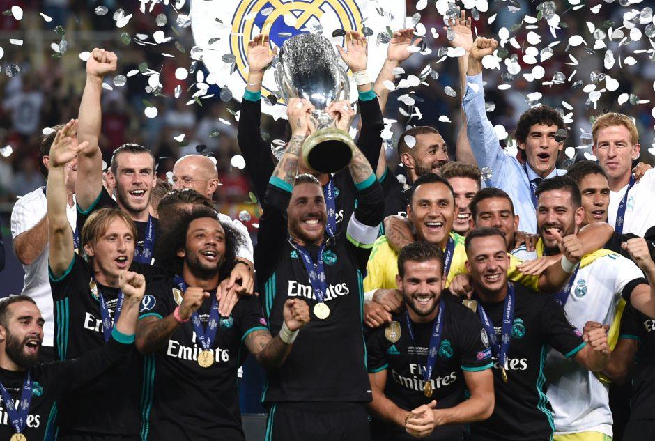 """""""Real"""" futbolininkai užtvirtino Europos karalių titulą laimėdami Supertaurę"""