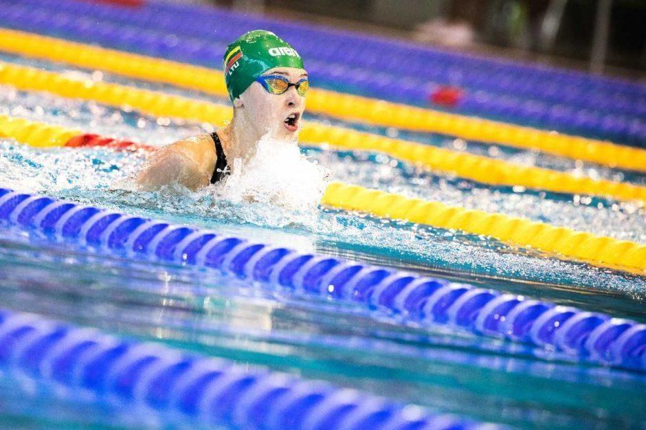 Plaukikė K. Teterevkova iškovojo jaunimo olimpinių žaidynių bronzos medalį