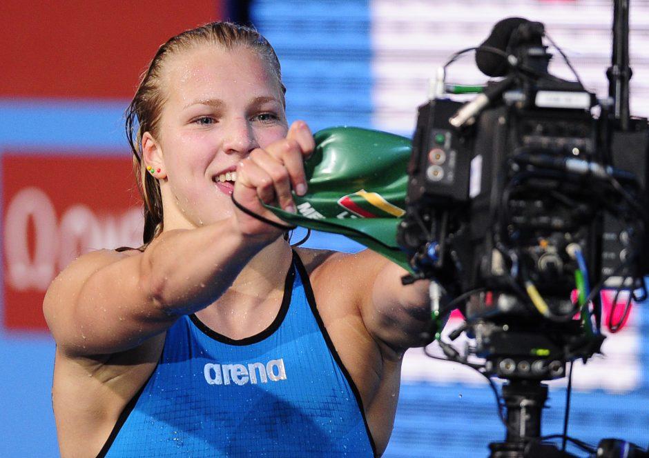 R.Meilutytė pasaulio jaunimo čempionate įveikė dar vieną barjerą