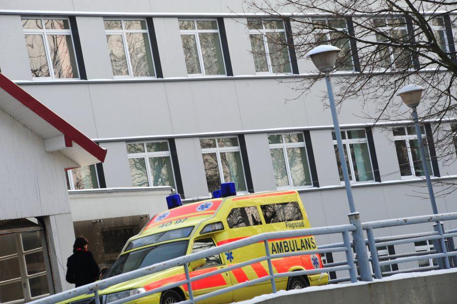 Policininkams liežuvį rodęs klaipėdietis išvežtas į ligoninę