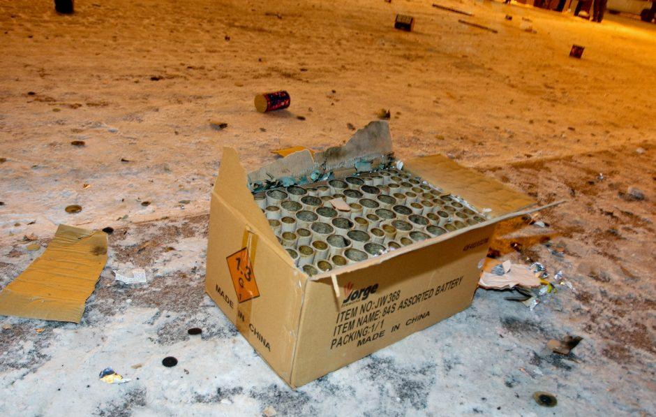 Policija nustatė, kad Vilniuje nelegaliai prekiauta šventine pirotechnika